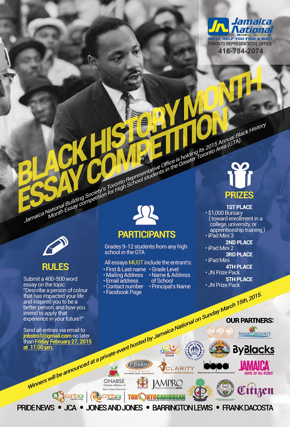 black history month 2015 meticulous design studios client national rep office toronto x cmj entertainment